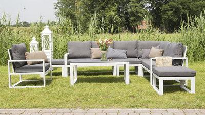 Alu loungehoekset Pina Colada (excl. stoelen en tafel)