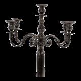 Kandelaar Classic alu zwartgoud 144cm