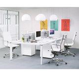 Impressifoto Bureau-Vergadertafel EFYRA Wit 140,3x140cm