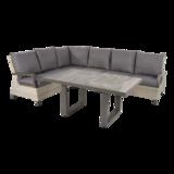 Lounge hoekset Prato Mountain met bijpassende tafel 43021