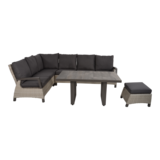 Lounge hoekset Prato Mountain met bijpassende tafel 43021 en hocker 43019