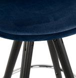 Barkruk FRANKY Blauw-Zwart