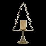 Kerstboom Aurum met windlicht alu goud met goud glas 70cm