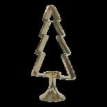 Kerstboom Aurum met windlicht alu goud 50cm