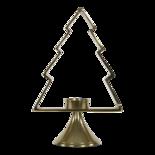 Kerstboom Aurum met windlicht alu goud 30cm