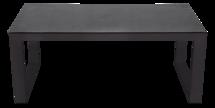 Loungetafel Pina Colada Negro 130x75cm