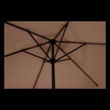 Parasol Gemini ecru Ø3mtr
