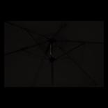 Parasol Gemini zwart Ø3mtr