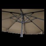 Parasol Libra taupe Ø3mtr