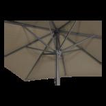 Parasol Virgo taupe 3x3mtr