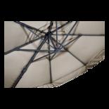 Zweefparasol Virgo ecru Ø3,5mtr