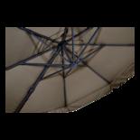 Zweefparasol Virgo taupe Ø3,5mtr