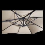 Zweefparasol VirgoFlex ecru 3x3mtr