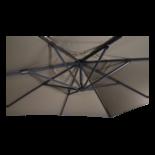 Zweefparasol VirgoFlex taupe 3x3mtr