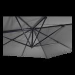 Zweefparasol Scorpio grijs 3x4mtr