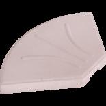 Betonplaat voor zweefparasol, 20kg beige/wit
