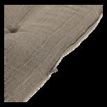 Bankkussen taupe 150x50x6cm