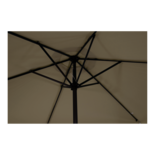 Parasol Gemini taupe Ø3mtr (geretourneerd artikel)