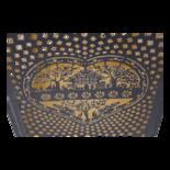 Windlicht Sankt Moritz black/gold (set van 2)