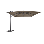 Outdoor Living - Zweefparasol Taurus taupe 3x3mtr