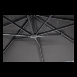 Outdoor Living - Zweefparasol Taurus grijs Ø3,5mtr