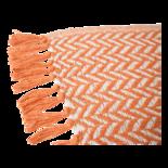 Outdoor Living - Plaid oranje/beige, 125x150cm