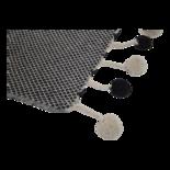 Outdoor Living - Plaid Pompon black 125x150cm