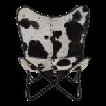 Outdoor Living - Vlinderstoel Cow Zwart-Wit