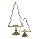 Outdoor Living - Kerstboom Aurum met windlicht alu goud 30cm