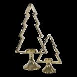 Outdoor Living - Kerstboom Aurum met windlicht alu goud 50cm