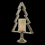 Outdoor Living - Kerstboom Aurum met windlicht alu goud met goud glas 89cm