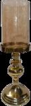 Outdoor Living - Kaarsenstandaard Aurum alu goud met goud glas ø15x43cm