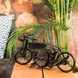 Countryfield - Tafelklok motor Harley Antiekzwart