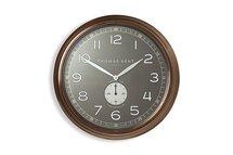 Thomas Kent - Klok Timekeeper bruin - zwart Ø50CM