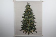 Countryfield - Wanddoek kerstboom LED timer 100x135CM