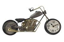 Countryfield - Tafelklok motor Bradly staal-hout-goud