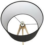 Vloerlamp TRIVET Zwart-Hout
