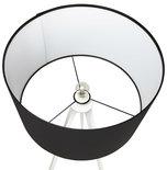 Vloerlamp TRIVET Zwart-Wit