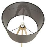 Vloerlamp TRIVET Grijs-Hout