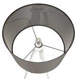 Vloerlamp TRIVET Grijs-Wit