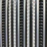 Deurgordijn PVC Tris antraciet/grijs 100x230cm,35s