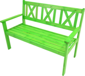 Bank grenen groen 129 cm