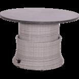 Loungetafel verstelbaar Soho Brick, easystone blad, ø100cm