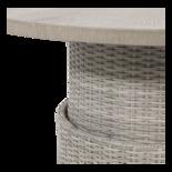 Loungetafel verstelbaar Soho Brick, cherryboard blad, ø100cm