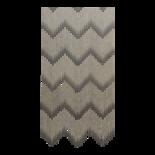 Deurgordijn PVC druppel zwart 90x200cm, 36s