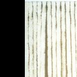 Deurgordijn chenille wit 90x220cm