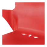 Stapelstoel Bella rood