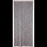 Deurgordijn chenille antrct/wit 90x220cm,22s
