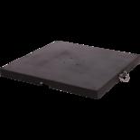 Granietplaat Polish 120kg zwart, afstand gaten diagonaal 16cm