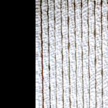Deurgordijn chenille wit/grijs 100x230cm,25 streng